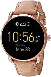 Snap a photo, ring your phone, control your music and more with the customizable link button. Fit your style with customizable watch faces and interchangable straps - Compatible with all Fossil brand 22mm straps. Stay connected with display notifications including texts, calls, emails, and keep track of your fitness goals by tracking your sleep, steps, and calories. Stay charged for up to 24 hours (based on usage) with the wireless conductive magnetic charger. Use the built-in microphone and