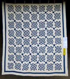 Antique Quilt Circa 1900, maker unknown, exhibited by Karen Gilsdorf of Redmond OR (66″ x 76″). 2015 Sisters Outdoor Quilt Show.  Photo by First Light Designs.