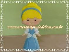 Resultado de imagen para moldes de princesas em feltro