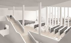 I like this shot in the Kulturkvartalet project by drdharchitects.