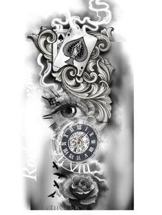 hukmary - 0 results for tattoos Clock Tattoo Design, Forearm Tattoo Design, Tattoo Design Drawings, Full Sleeve Tattoo Design, Half Sleeve Tattoos Designs, Tattoo Designs Men, Band Tattoos, Leg Tattoos, Body Art Tattoos