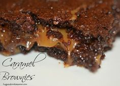 German Chocolate Caramel Brownies Recipe Desserts with german chocolate cake mix, Kraft Caramels, evaporated milk, melted butter, flour, semi-sweet chocolate morsels