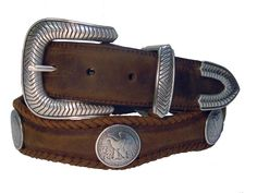 Western Leather Concho Belt Western Belt Buckles, Western Belts, Concho Belt, Ring Bracelet, Bracelets, Leather Belts, Cowboy Boots, Westerns, Style Me