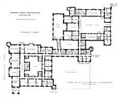 Ground floor plan of Balmoral Castle.