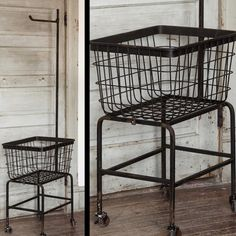 Rolling Laundry Cart | Rolling Cart | Metal Cart on Wheels | Rolling Laundry Basket