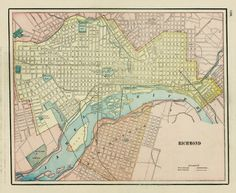 18 Best Old Maps Of Richmond Va Images Antique Maps Old Maps