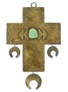 Navajo Brass Cross
