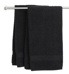 Gæstehåndklæde UPPSALA sort Kronborg   JYSK. 30x50 cm. Stk: 2