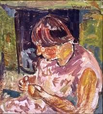 Toss Wollaston Portrait of Jenny Sligo New Zealand Art, He Is Able, Tossed, Portrait, Artist, Pictures, Painting, Image, Sewing