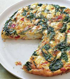 Spinach, Tomato & Feta Frittata | healthy recipe ideas @xhealthyrecipex |