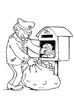 kleurplaat postkantoor - Google zoeken