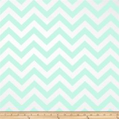 Premier Prints Zig Zag Twill Mint from @fabricdotcom  Screen printed on cotton twill; this versatile lightweight fabric is perfect for window treatments (draperies, valances, curtains and swags), toss pillows, bed skirts, duvet covers, some upholstery and other home decor accents. Create handbags, apparel (skirts, lightweight jackets, pants) and aprons.*Use cold water and mild detergent (Woolite). Drying is NOT recommended - Air Dry Only - Do not Dry Clean. Colors include white and mint ...