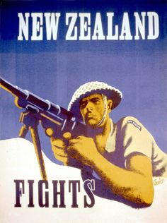 """New Zealand Fights"" - old poster designs have such enduring pathos, and often in only a couple of colours"