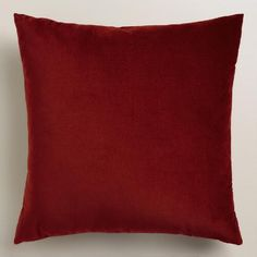 Crafted of luxurious cotton velvet, our red throw pillow is a classic accent for any room. Combine this exclusive accent with our other velvet pillows in an array of chic colors to refresh your decor instantly.
