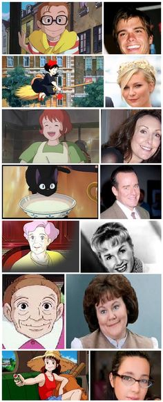 'Kiki's Delivery Service' characters & voice actors