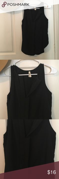 Cute flowy black tank! Super cute and comfy black tank! Can be dressed up or down! Tops Blouses