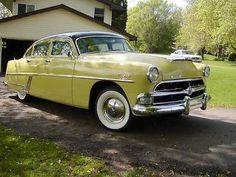 1954 Hudson Hornet Special 4-Door Sedan Hudson Terraplane, Vintage Cars, Antique Cars, Hudson Car, Old Fashioned Cars, Hudson Hornet, American Motors, Us Cars, Drag Cars