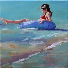 Carol Carmichael Paints  no cares  12x12