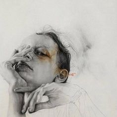 "felixinclusis: ""beautifulbizarremagazine: Masato Tsuchiya Graphite and watercolor on paper. Life Drawing, Painting & Drawing, L'art Du Portrait, Portraits, A Level Art, Art Plastique, Figurative Art, Lovers Art, Les Oeuvres"