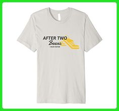 Mens After two beers t shirt, running faster is best with beer, XL Silver - Food and drink shirts (*Amazon Partner-Link)