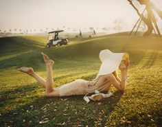 Dree Hemingway for Vogue UK, a beautiful editorial story in the form of a rich, bored housewife with nothing to do but waste time at the country club.