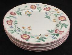 Churchill Staffordshire England Fine China BRIAR ROSE Dinner Plate SET OF 6 #Churchill