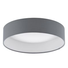 Eglo Lighting Palomaro Single Light LED Small Flush Ceiling Fitting In White Acrylic And Grey Fabric Finish - Lighting Type from Castlegate Lights UK