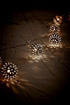 Moroccan String Lights in White at Urban Outfitters