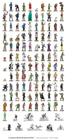 The adventures of the Tintin figurines
