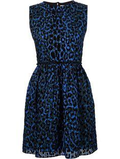 VICTORIA VICTORIA BECKHAM Leopard Print Flared Dress. #victoriavictoriabeckham #cloth #dress