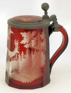 Ruby Glass Tankard