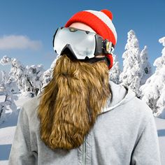 A ski mask and fake beard in one; this spectacular accessory will make you look like the most experienced man on the slopes. Even if you're a woman.