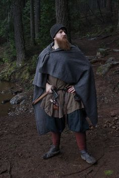 Viking wool rectangle cloak in diamond twill historial reenactment cloaks viking age handmade l ss viking braids aesthetic Viking Garb, Viking Reenactment, Medieval Costume, Historical Costume, Historical Clothing, Vikings, Braids With Weave, Long Braids, Viking Clothing