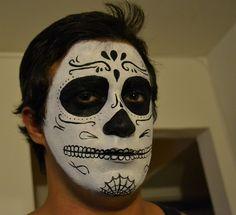 sugar skull makeup men - Google Search