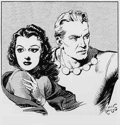Alex Raymond (1909 - 1956) Dibujante e historietista estadounidense creador de series clásicas como Flash Gordon, Rip Kirby.