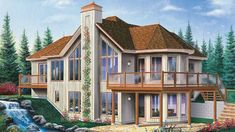 Chalet House Plan with 2800 Square Feet and 3 Bedrooms from Dream Home Source | House Plan Code DHSW53056