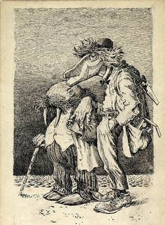 ALICE IN WONDERLAND - THE WALRUS AND THE CARPENTER BY MERVYN PEAKE