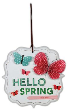 Hello Spring Plaque by @Crafts Direct Click through link for project instructions.