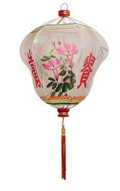 Large Melon Rustic Gauze Shanghai Lantern