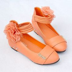 Buy Orange Little Junior Girls Kids Pageant Party Event Shoes Online SKU-133117