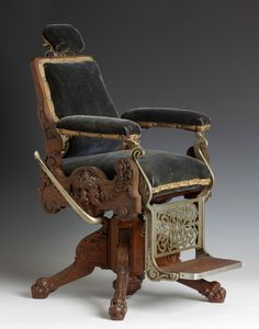 Very Rare Victorian Period Salesman Sample Barber Chair Images - Frompo