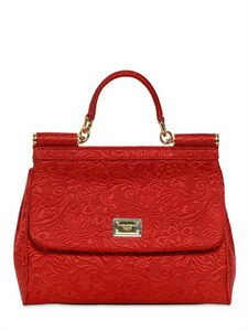 34e3defc5b Dolce   Gabbana - Red Brocaded Medium Miss Sicily Bag - Lyst