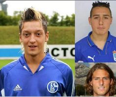 Mesut Özil, Santi Cazorla and Olivier Giroud back in the day...