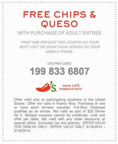 image relating to Chilis Coupons Printable called Chilis free of charge chips and queso coupon 2018 : Heelys coupon codes 2018