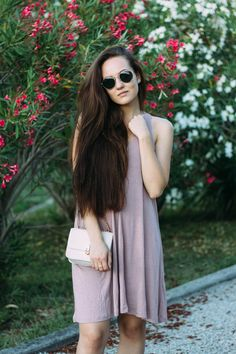 dress from H&M / bag … Continue Reading H&m Bags, Comfy Dresses, Summer Outfits, Dress Summer, Pink Dress, Long Hair Styles, Celebrities, Fashion, Pink Sundress