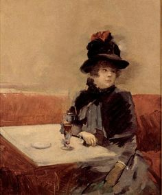 The Athenaeum - Woman in a Café (Jean-Louis Forain - ): Cabaret, Jean Leon, Palais Galliera, Cafe Art, Great Paintings, Impressionist Art, French Artists, Art Reproductions, Art Google