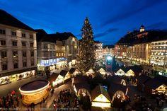 Gorgeous View of the Christmas Market in the main square in Graz, Austria. #luxuryttravel #europetravel #austriaSTN #brighttravelvacations