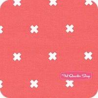 Cotton + Steel Basics Pink Cheeks XOXO Yardage SKU# 5001-05 -fatquartershop.com