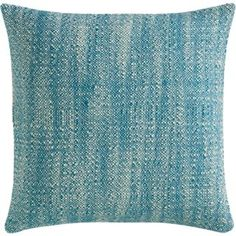 Formal LR: Boucle Tweed pillow with solid blue cotton back - $24.95
