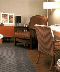 Aidan's leather chair from sex and the city. I always loved the look of it. Would like to see it in a game room of mine.